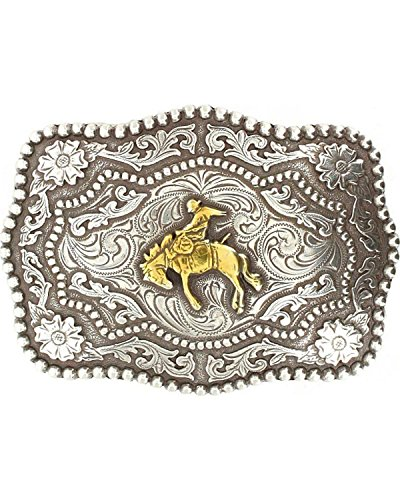 - Cody James Men's Bucking Bronc Belt Buckle Silver One Size