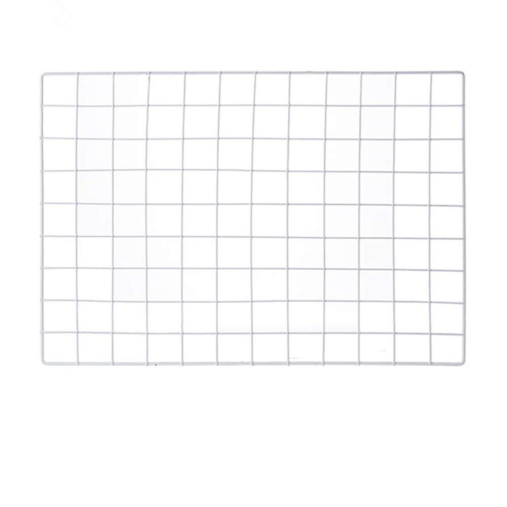 ShouYu DIY Grid Photo Wall,Multifunction Wall Mounted Ins Mesh Display Panel,Wall Art Display Organizer,Memo Board(65 x 45cm,White)