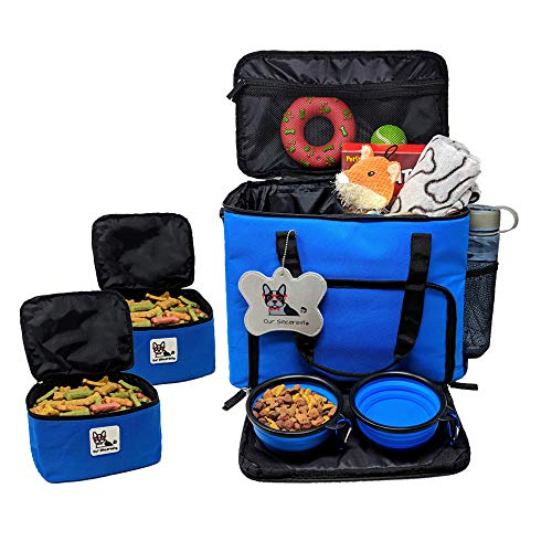 Our Sincerest Dog, Cat & Puppy Travel Bag: Carrier for Pet Accessories. Airline Approved. Carriers Come with 2 Tote Bags…