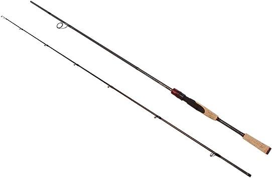 noeby Spinning caña de pescar ligera 2 sección portátil pesca Rod ...