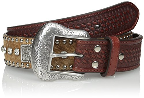 Nocona Belt Co. Men's Clear Bar Bling, Brown, 38
