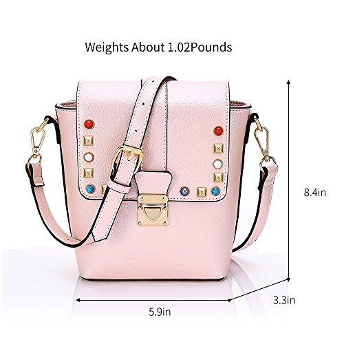 Message Teen Strap Adjustable Mini YsinoBear PU Girls Pink Universal for Leather Bag Shoulder Pink Small with Women Handbags Shoulder 0xpZ1qA