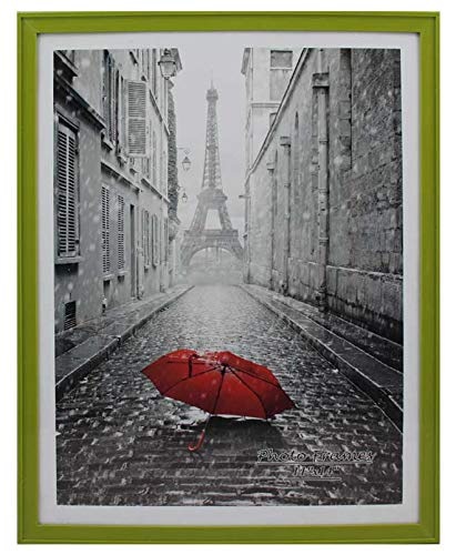 (PP Modern Collection Photo Frame Olive Green Plastic (11