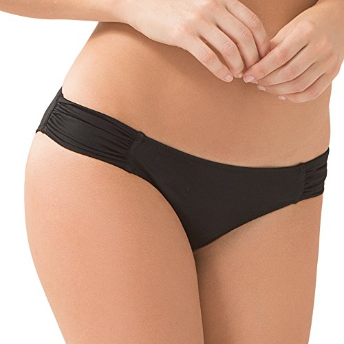 - Smart & Sexy Women's Swim Secret Side Ruched Bikini Bottom, Black Hue, XL