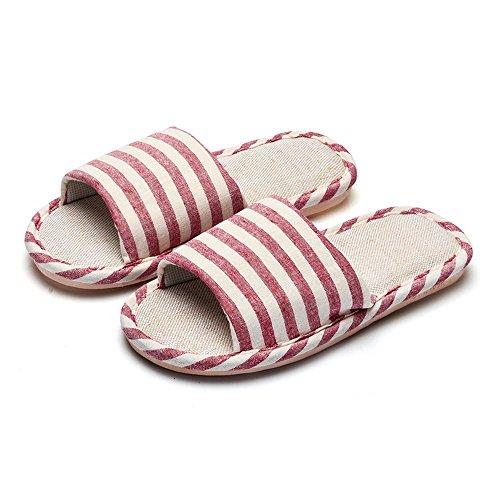 Pantofole Da Casa In Lana Di Cotone Classiche Bestfur Womens Rosse