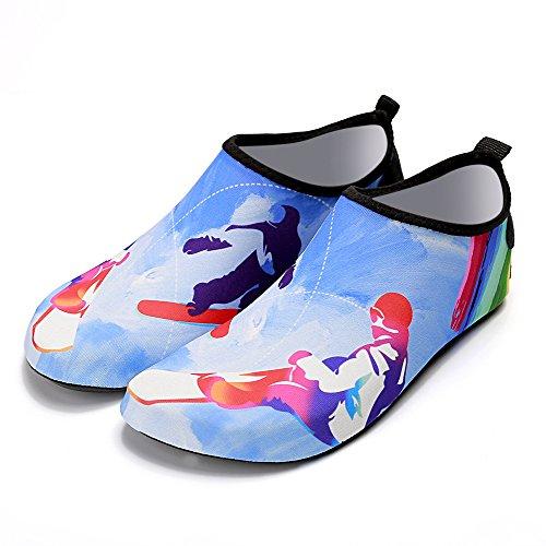Kivors Femmes Et Hommes Dété En Plein Air Chaussures De Sport Deau Pieds Nus À Séchage Rapide Aqua Yoga Chaussettes Slip-on Pour La Plage Nager Surf Yoga Exercice Skateboard