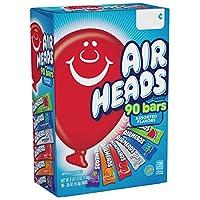 Barras Airheads, Caramelos de fruta masticables, Paquete de variedades, 90 unidades (el empaque puede variar)