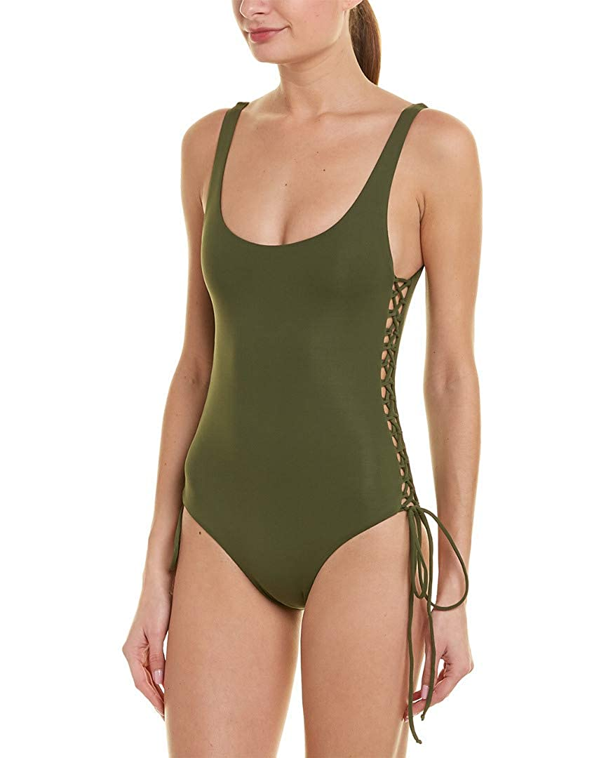 15f202f7a0 Melissa Odabash Women's Khaki One Piece Tank Swimsuit at Amazon Women's  Clothing store: