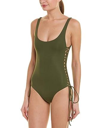 01523c12a1d60 Melissa Odabash Women's Khaki One Piece Tank Swimsuit at Amazon Women's  Clothing store: