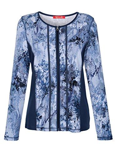 Damen Shirtjacke mit unifarbenen Einsätze 48 by Paola