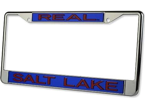 Amazon.com : Real Salt Lake Chrome Metal LASER License Plate Tag ...