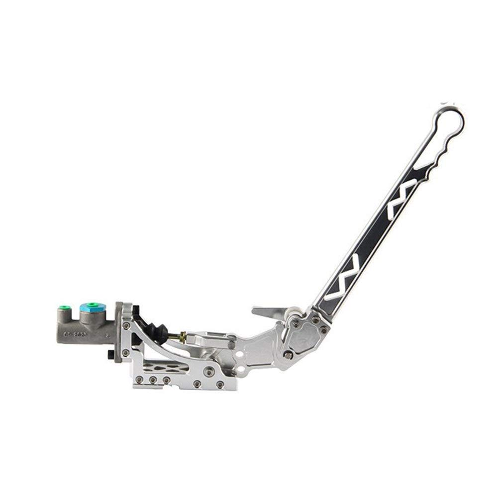 Bin Zhang Car modification universal racing/drift/competitive/hydraulic hand brake W new triangular hydraulic curved hand brake (Color : Silver) by Bin Zhang