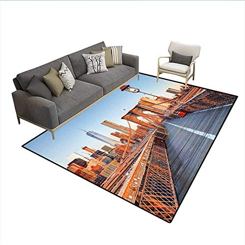 Carpet,New York Skyline Closeup Brooklyn Bridge in for sale  Delivered anywhere in Canada