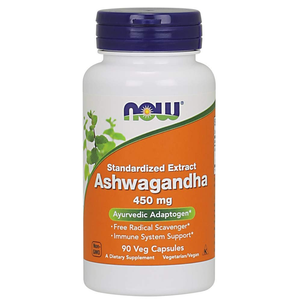 Now Ashwagandha Extract 450 mg, 170 Veg Capsules (170 Count)