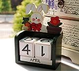 Novelty Four Season Creative Wooden Blocks Daily Perpetual Desktop Calendar for Office Desk Decoration