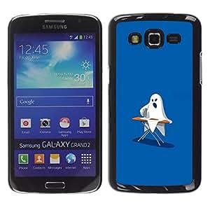 // PHONE CASE GIFT // Duro Estuche protector PC Cáscara Plástico Carcasa Funda Hard Protective Case for Samsung Galaxy Grand 2 / Ghost Ironing - Funny /