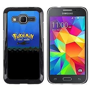 TaiTech / Prima Delgada SLIM Casa Carcasa Funda Case Bandera Cover Armor Shell PC / Aliminium - P0kemon Plata - Samsung Galaxy Core Prime