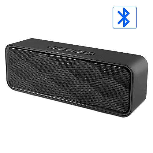 Wireless Bluetooth Speaker,Lansen Outdoor Portable Stereo Speaker with HD Audio and Enhanced Bass, Built-in Dual Driver Speakerphone, Bluetooth 4.2+EDR, Handsfree Calling, TF Card Slot