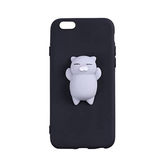 buy online 85fdc b0a84 Amazon.com: 3D Mini Cat Phone Cover Funny Stress Relief Squeeze ...