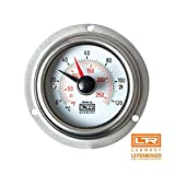 Leitenberger Heating Thermometer and Thermostats 04.31 Stainless with Flange ( Surface Mounting ) for Pizza Oven Grill and Bred Oven (D.100 +32° F to +240° F)