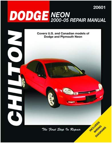 chilton dodge and plymouth neon 2000-2005 repair manual (20601) unknown  binding