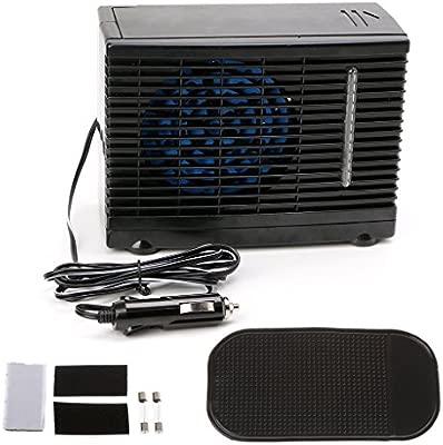 Ajustable 12 V Auto aire acondicionado ventilador Agua Hielo ...