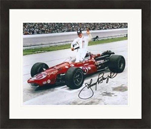 Johnny Rutherford Signed Picture - 8x10 Racing Indianapolis 500 Lone Star JR #1 Matted & Framed - Autographed NASCAR (Rutherford Autograph)