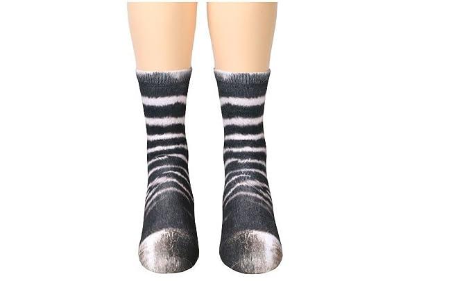 dressfan Calcetines de animales Unisex Niños 3D Imprimir Paw Calcetines Para El Traje De Cosplay Invierno