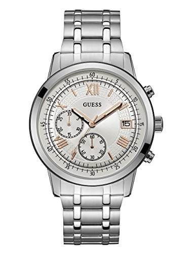 GUESS Men's Quartz Stainless Steel Casual Watch, Color:Silver-Toned (Model: U1001G1) by GUESS