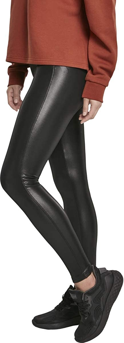 Urban Classics Damen Leggings Faux Leather Fake Leder-Leggings