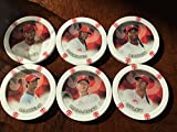 2014 Topps Chipz Philadelphia Phillies Team Set 6 Poker Chips