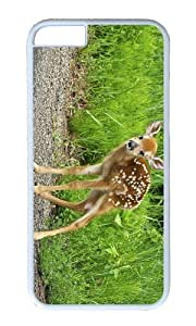 MEIMEIMOKSHOP Adorable deer fawn Hard Case Protective Shell Cell Phone Cover For Apple Iphone 6 Plus (5.5 Inch) - PC WhiteMEIMEI