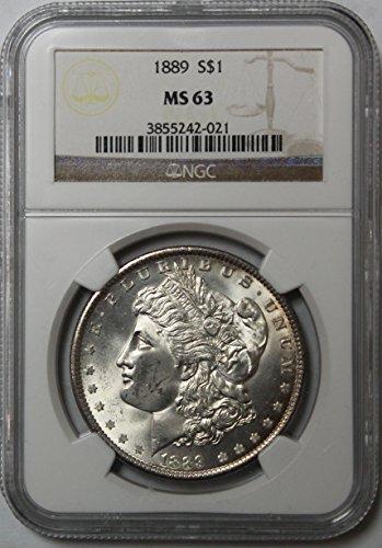 1889 P Morgan Silver Dollar $1 MS63 NGC (1889 Morgan Dollar Silver Coin)