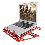 Laptop Cooling Stand - Portable USB Powered 12-15.6 inch Laptop Cooler Pad with 2 Ultra Quiet Fans and Blue LED lights (Red)