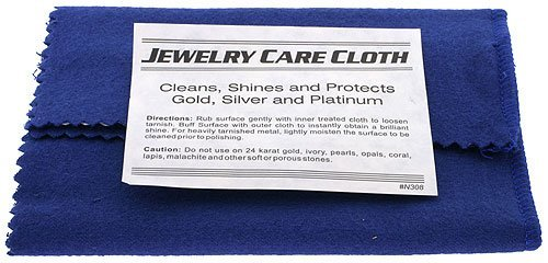 Polishing Cloth for Silver, Gold, Brass & Most Other Metals, Rings, Bracelet, Watches and Jewelry Instant Cleaning and Polishing Restores Shine from Jewelry Cloth Cleaner