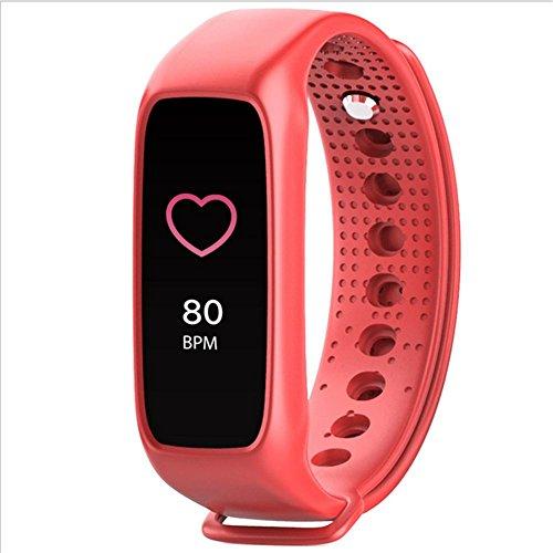 Bracelet intelligent Bracelet coeur couleur L30T bracelet de surveillance du sommeil mouvement pédomètre intelligent pour rappeler les informations de l'appelant