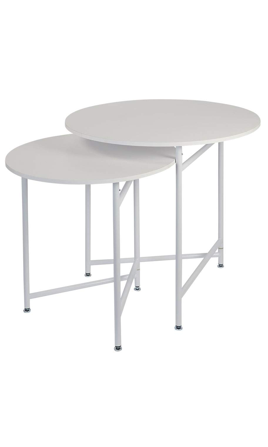 Round Nesting White Tables (Display Tables) by SSWBasics