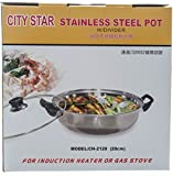 City Star Stainless Steel Shabu Shabu Cooking Soup Hot Pot 28cm w/DIVIDER