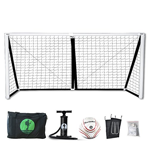 Inflatable 6' Football (Eco Walker Inflatable Soccer Goal with Carrying Bag, Pump, Soccer Ball, Safe and Portable for Kids and Training (12' x 6'))