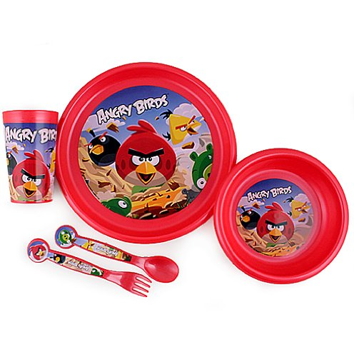Angry Birds 5pc Feeding Set in Clamshell