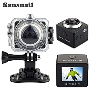 360 Action Camera Wifi Mini Panoramic Camera 4080*2304 Ultra HD Panorama Camera 360 Degree Waterproof Sport Driving VR Camera