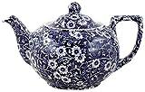 Burleigh Dark Blue Calico Teapot Small (475ml)