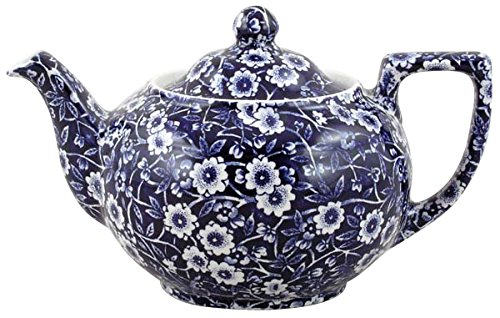 Burleigh Dark Blue Calico Teapot Small (475ml)