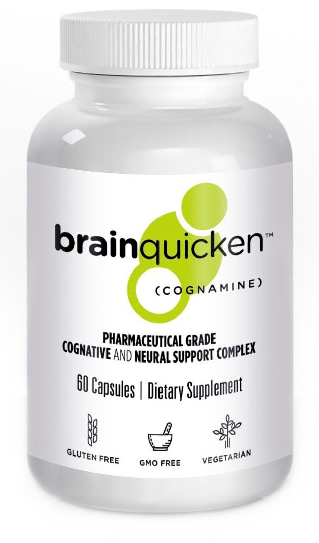 Brainquicken (also sold as Bodyquick) - Nootropic - Focus, Productivity and Memory Supplement - 60 caps