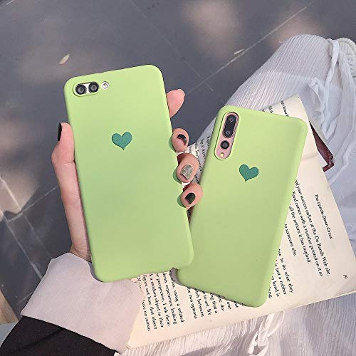 Magcha Green Love Huawei Glory V20 Mobile Shell p20pro Soft Shell p10plus Grinding Shell Play Protector