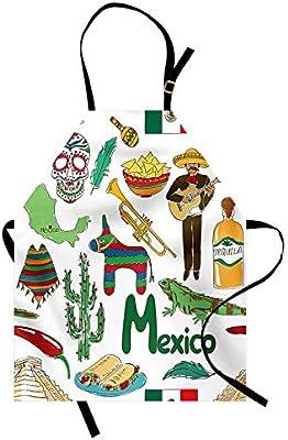 Delantal mexicano, divertido dibujo colorido Artístico México ...