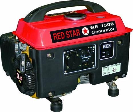 Grupo electrógeno/Generador de corriente 1300W Mosa-GE 1500Red Star: Amazon.es: Jardín