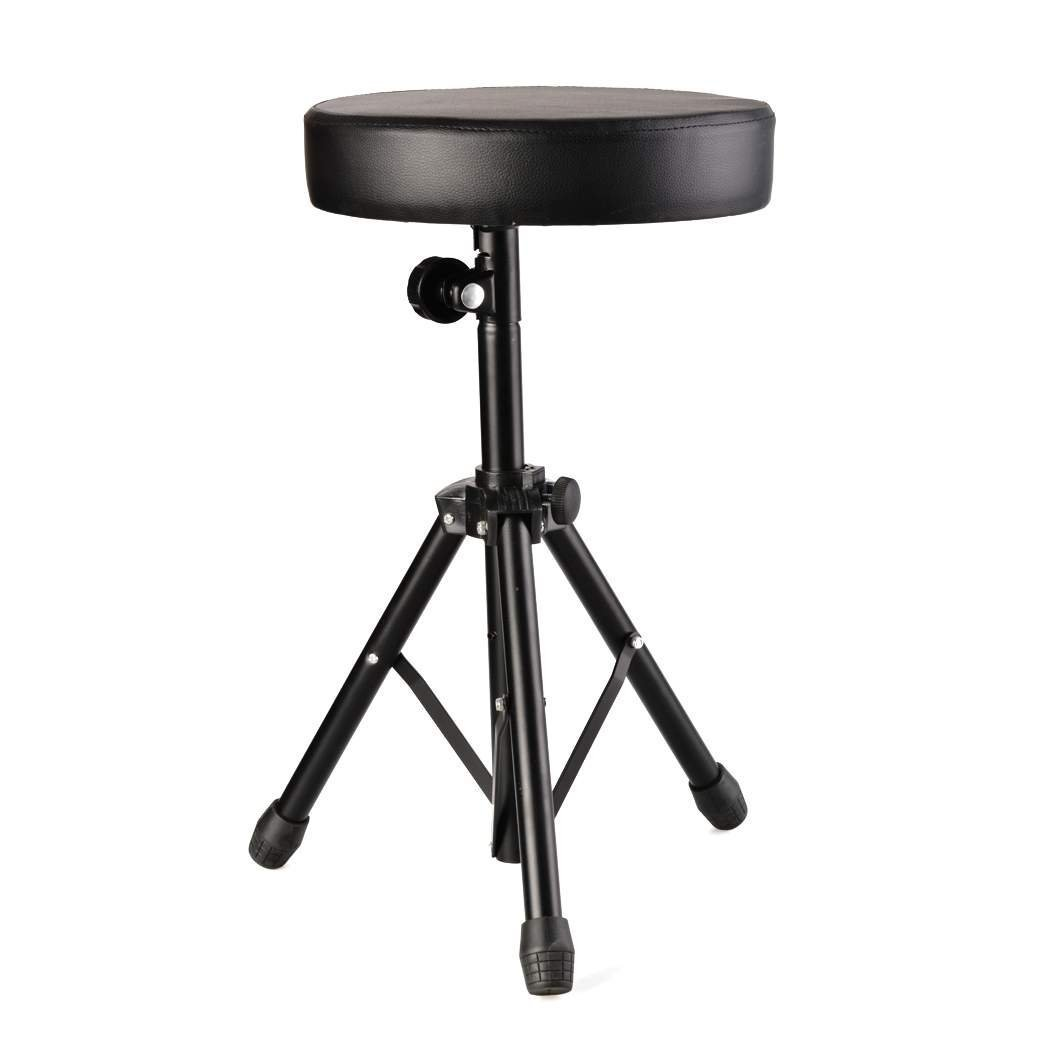 Hindom Black Swivel Adjustable Height Drum Stool Drummer's Throne Seat