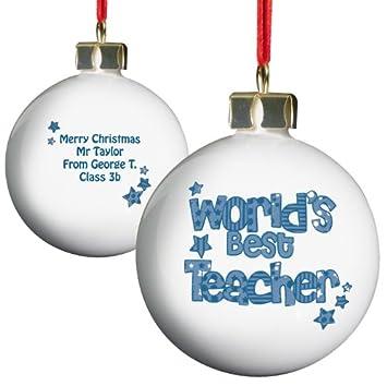 Amazon.de: Personalisierte Lehrer Weihnachtskugel, Baumschmuck ...