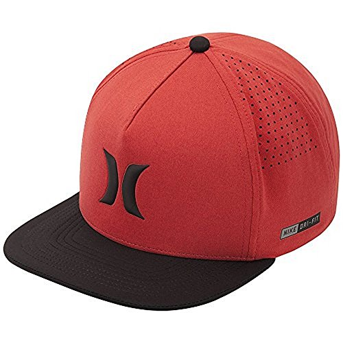 (Hurley New Mens Dri-Fit Icon Hat Cotton Polyester, One Size, Light Photo Blue )